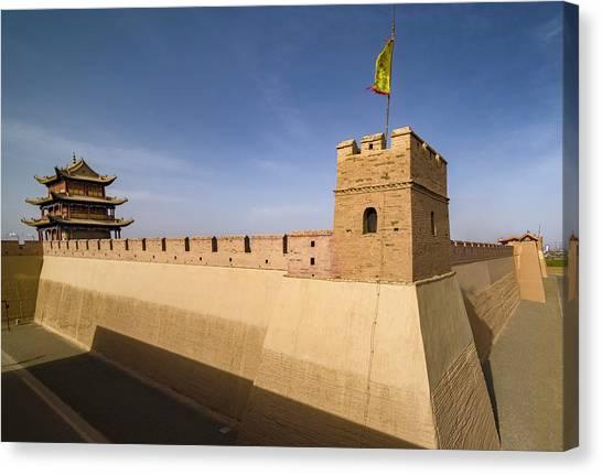 Jiayuguan Pass Western Great Wall Jiayuguan Gansu China Canvas Print