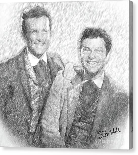 Jim And Artimus Canvas Print