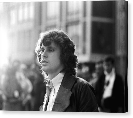 Jim Morrison Canvas Print by Michael Ochs Archives