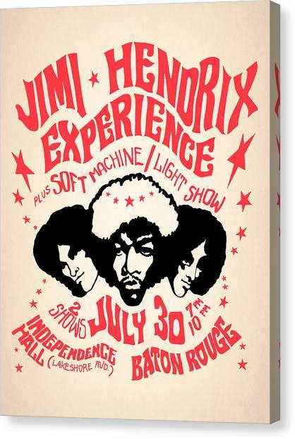Jimi Hendrix Canvas Print - Jimi Hendrix Experience by Mark Rogan