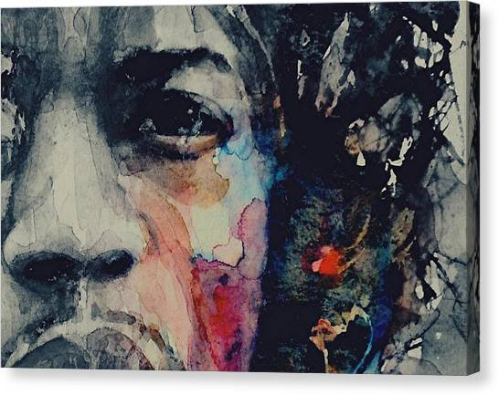 Jimi Hendrix Canvas Print - Jimi Hendrix - Somewhere A Queen Is Weeping Somewhere A King Has No Wife  by Paul Lovering