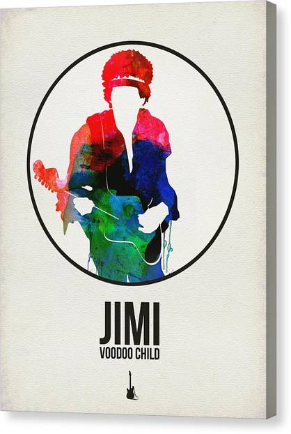 See Canvas Print - Jimi Hendrix Watercolor by Naxart Studio