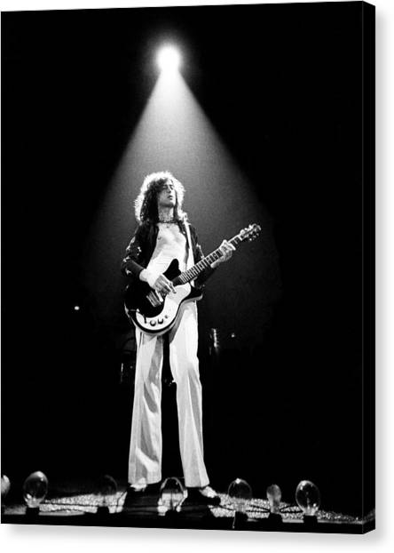 Jimmy Page Canvas Print - Jimmy Page Live by Larry Hulst