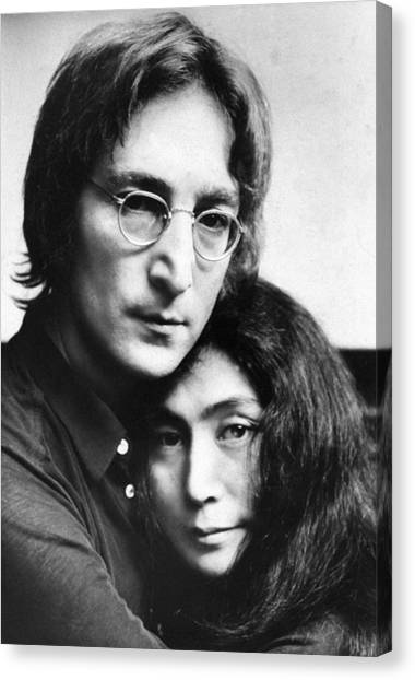 John Lennon And Yoko Ono Canvas Print