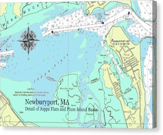 Joppa Flats Map Canvas Print