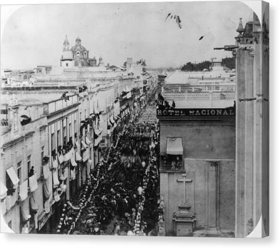 Juarez Enters Canvas Print by Hulton Archive
