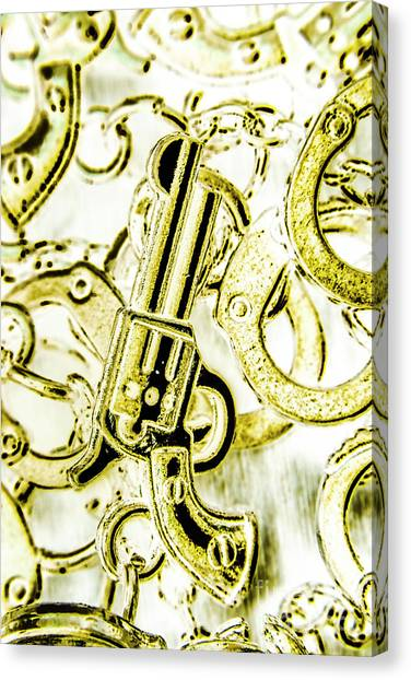 Pistols Canvas Print - Judicial Inversion by Jorgo Photography - Wall Art Gallery