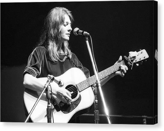 Folk Singer Canvas Print - Judy Collins Performing At Newport Folk by Tom Copi