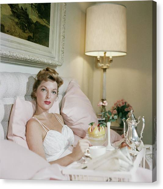 Julie London Canvas Print by Slim Aarons