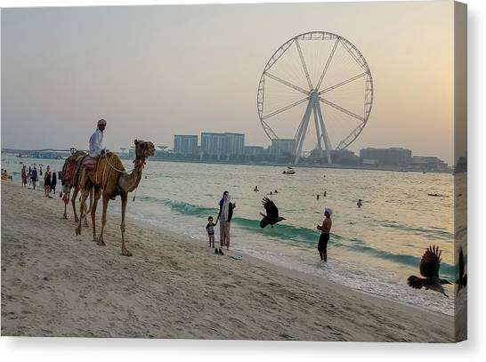 Jumeirah Beach, Dubai Marina, Dubai, United Arab Emirates Canvas Print