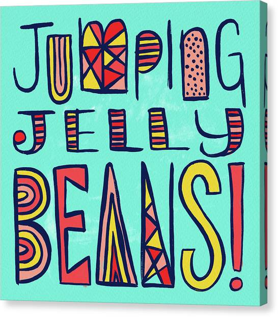 Jumping Jelly Beans Canvas Print