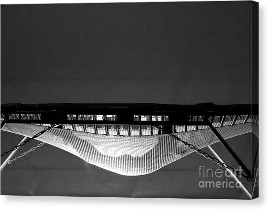 Horizontal Canvas Print - Jumping On Trampoline by Alex Emanuel Koch