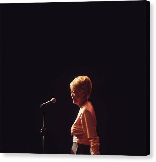 June Christy Performs At Newport Canvas Print by David Redfern