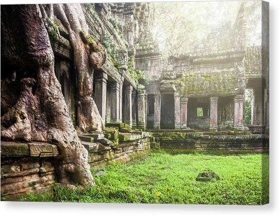 Canvas Print featuring the photograph Jungle Temple 1 by Nicole Young