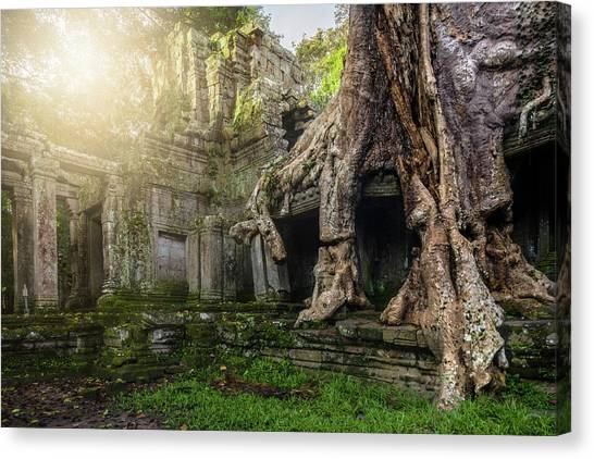 Canvas Print featuring the photograph Jungle Temple 2 by Nicole Young