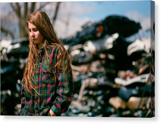 Canvas Print featuring the photograph Junk by Carl Young