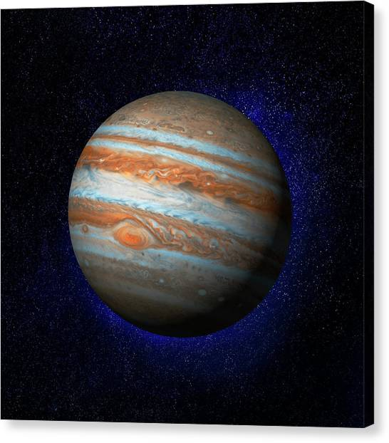 Jupiter & Stars Canvas Print by Ian Mckinnell