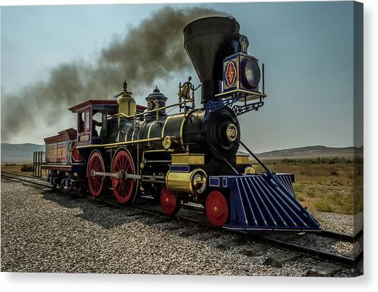 Trainspotting Canvas Print - Jupiter Descending by Enzwell Designs