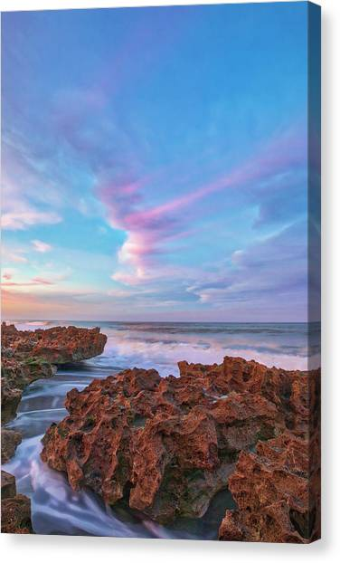 Canvas Print featuring the photograph Jupiter Island Sunset by Juergen Roth