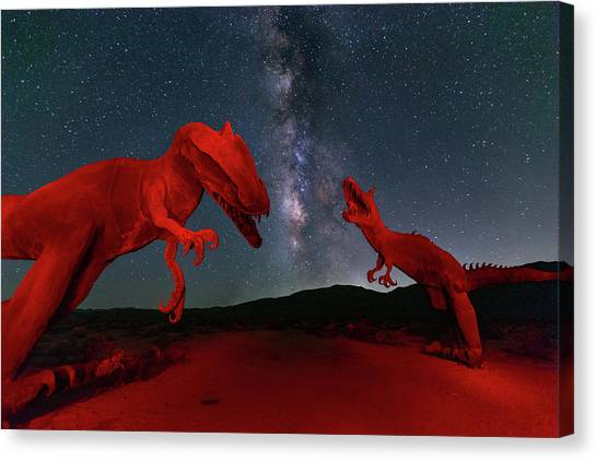 Canvas Print featuring the photograph Jurassic by Tassanee Angiolillo