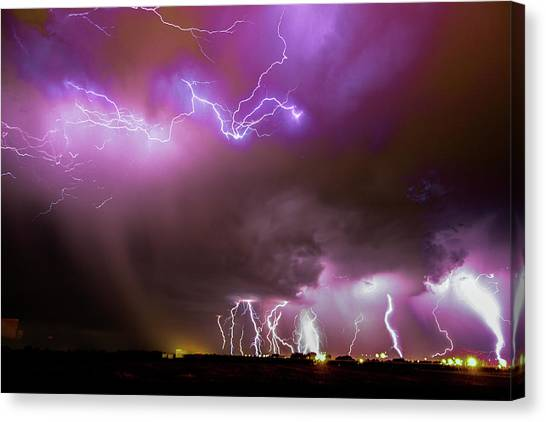 Canvas Print featuring the photograph Just A Few Bolts 001 by NebraskaSC