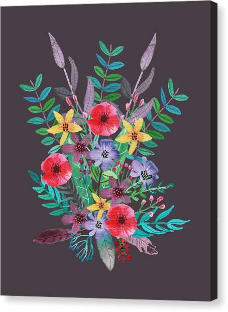 Romantic Flower Canvas Print - Just Flora II by Amanda Lakey