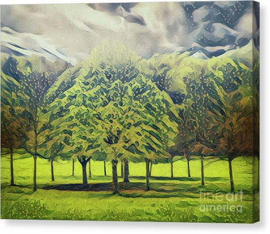 Canvas Print featuring the photograph Just Trees by Leigh Kemp