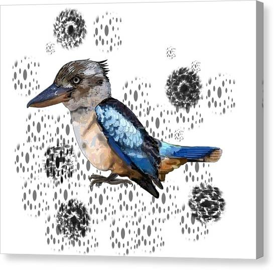 Canvas Print - K Is For Kookaburra by Joan Stratton
