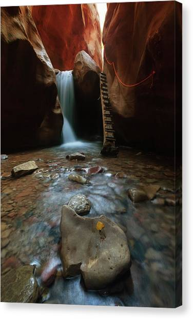 Canvas Print featuring the photograph Kanarraville Falls by Tassanee Angiolillo