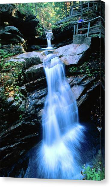 Kancamagus Highway Sabbaday Falls, New Canvas Print by John Elk Iii