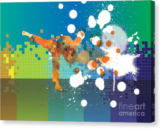 Block Canvas Print - Karate by Zeber