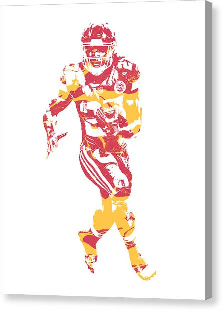 Kansas City Chiefs Canvas Print - Kareem Hunt Kansas City Chiefs Pixel Art 21 by Joe Hamilton