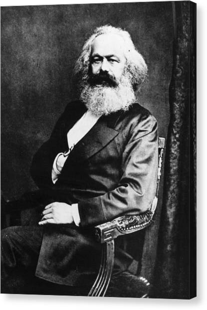 Philosopher Canvas Print - Karl Marx by Henry Guttmann Collection