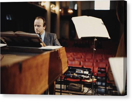 Harpsichords Canvas Print - Karl Richter by Erich Auerbach