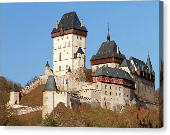 Karlstejn Castle, Czech Republic Canvas Print by Rusm
