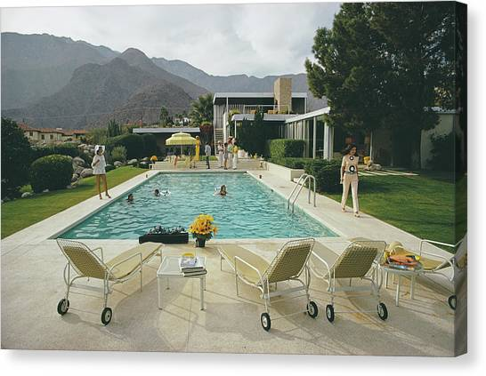 Horizontal Canvas Print - Kaufmann Desert House by Slim Aarons