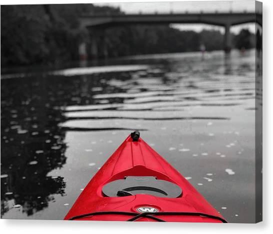Kayaking The Occoquan Canvas Print