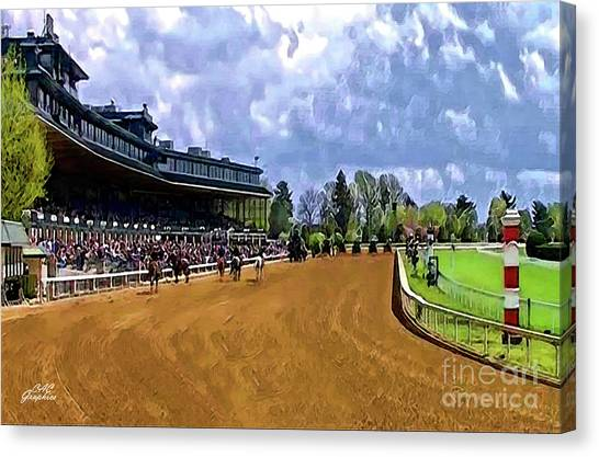 Keeneland The Stretch Canvas Print