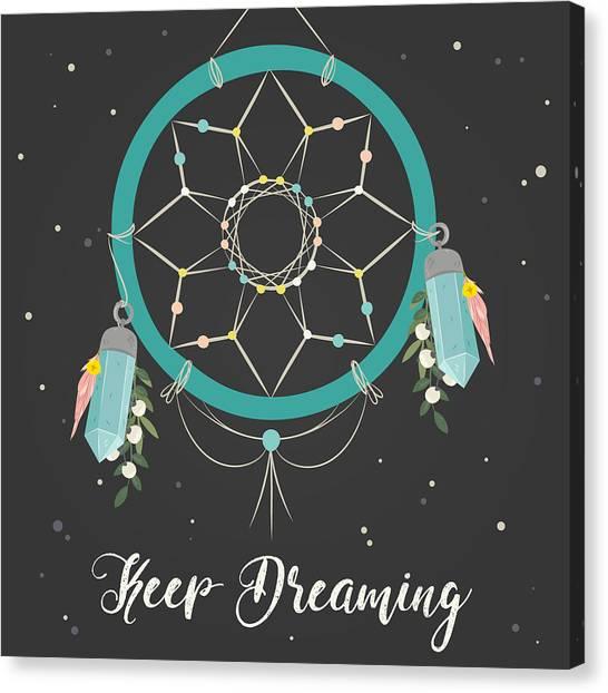 Keep Dreaming - Boho Chic Ethnic Nursery Art Poster Print Canvas Print
