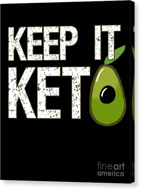 Keep It Keto Canvas Print