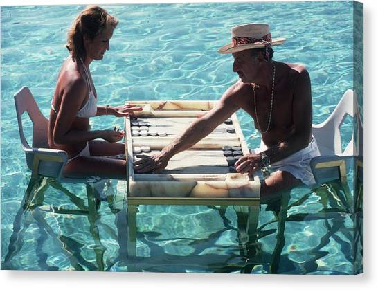 Keep Your Cool Canvas Print by Slim Aarons