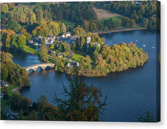Kenmore And Loch Tay Canvas Print by David Ross