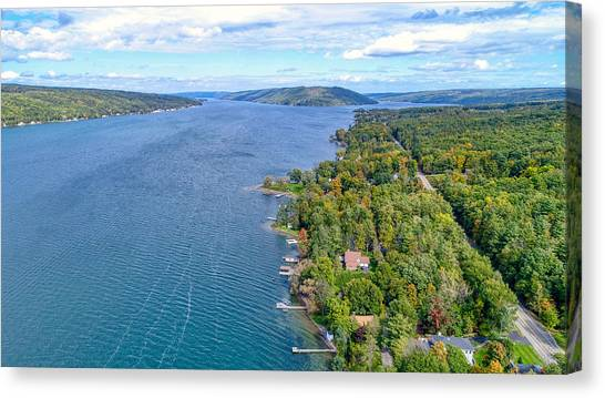 Keuka Center Point Canvas Print