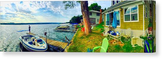 Keuka Lake Mornings Panorama Canvas Print