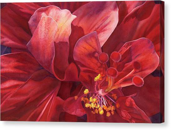 Hibiscus Canvas Print - Kilauea's Kiss by Sandy Haight