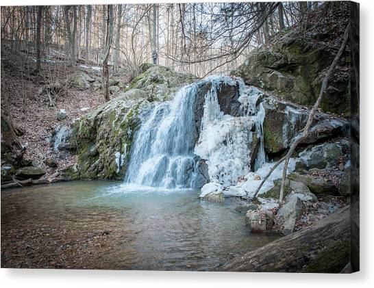 Kilgore Falls In Winter Canvas Print