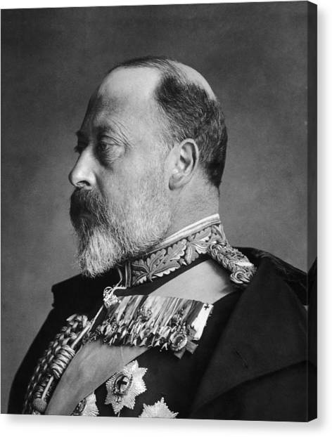 King Edward Vii Canvas Print by General Photographic Agency