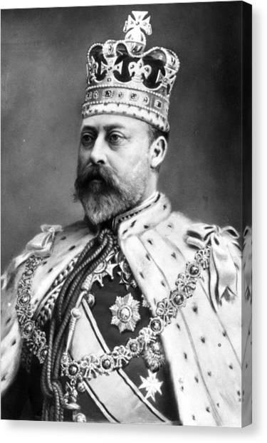 King Edward Vii Canvas Print by Hulton Archive