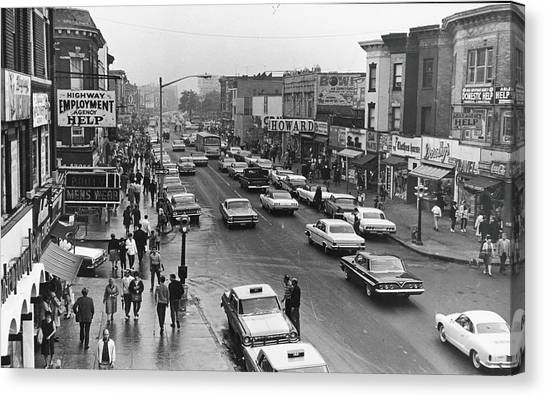 Kings Highway & East 15th St., Early Canvas Print by Fred W. Mcdarrah