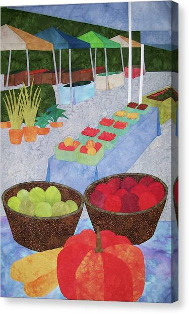 Kings Yard Farmers Market Canvas Print